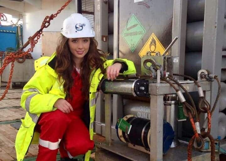 Offshore Surveyor Hayley Adlam