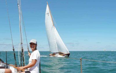 Deckhand Ger Tysk Sailing Tall On The Schooner Brilliant