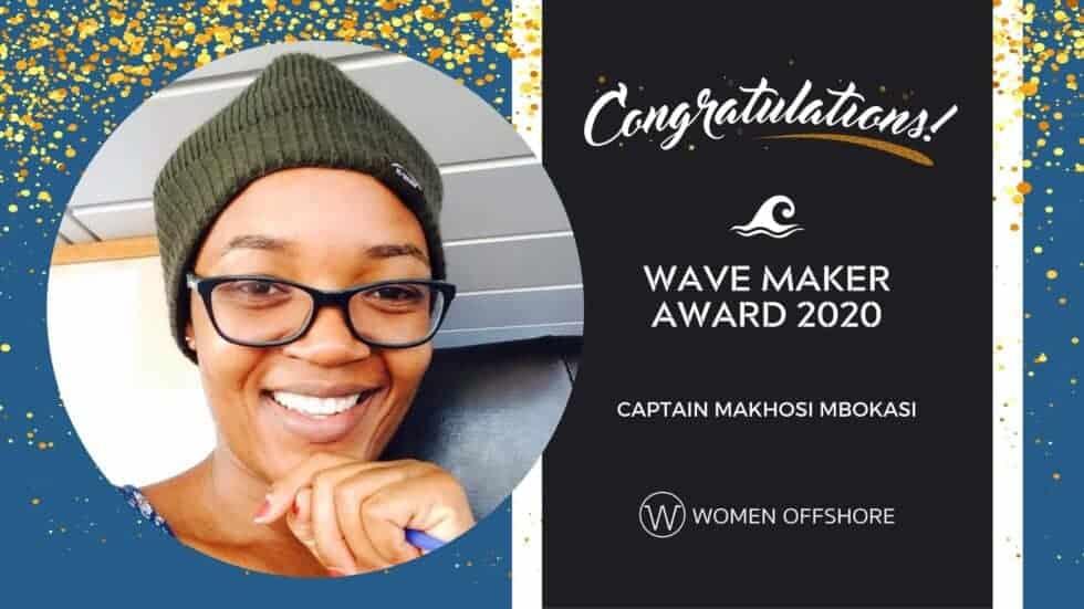 Congrats Captain Makhosi Mbokazi, 2020 Wave Maker Award Winner